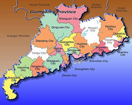 ResearchChina Orphanage Infos Social Welfare Institutions - Zhaoqing map